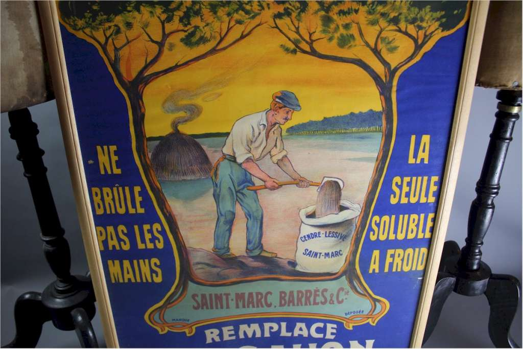Advertising poster  Cendres de Lessive St-Marc