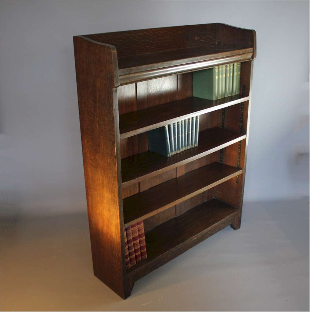 Arts and Crafts oak bookcase by Liberty & Co