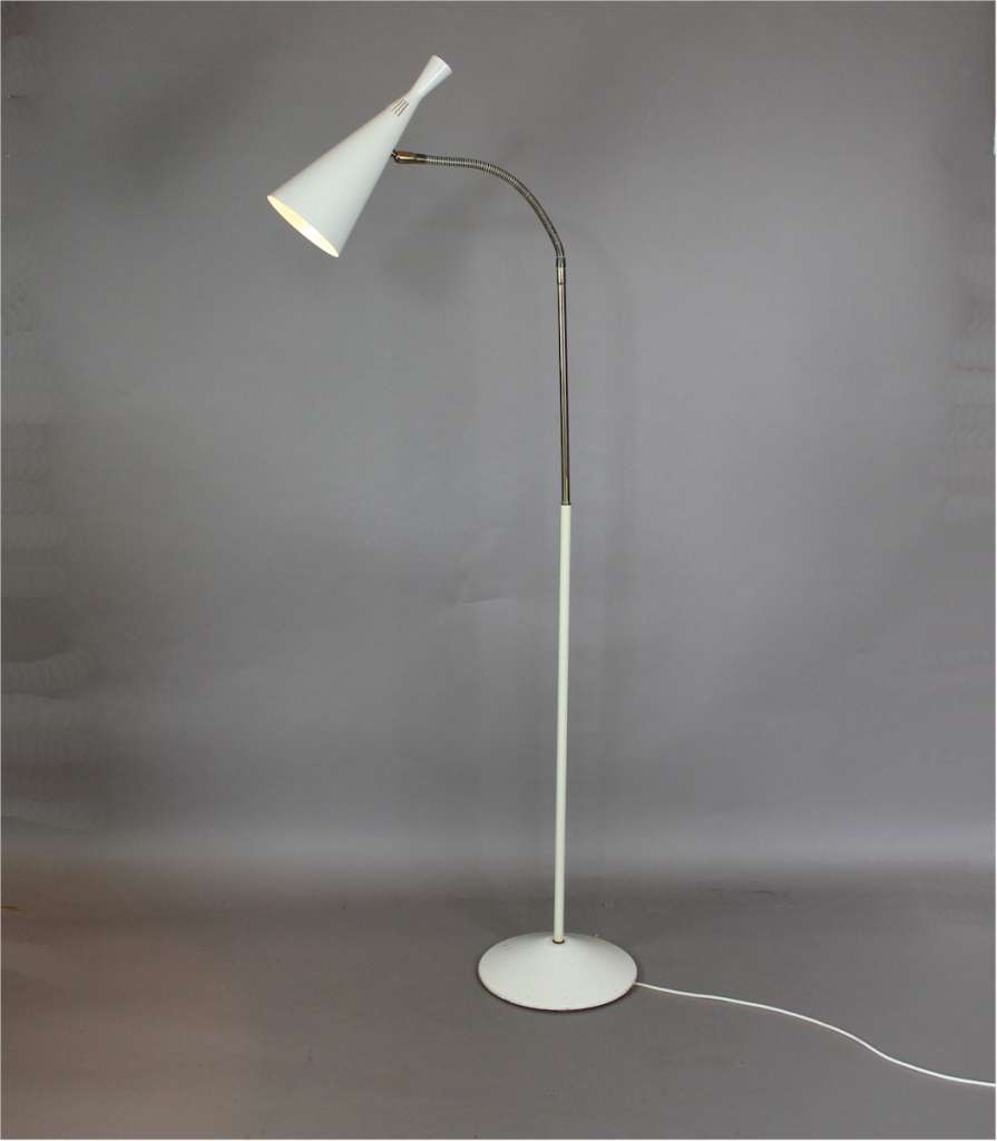 1950s floor lamp. Designed by GA Scott in the late 1950s for Maclamp