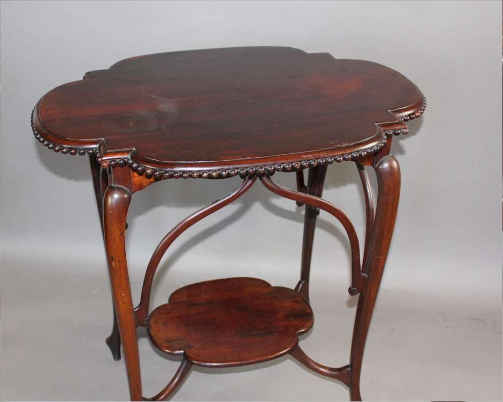 Art Nouveau exquisite mahogany occasional table