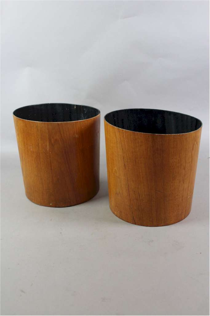 Pair of Mid-Century Teak waste paper bins by Mallod c1960's