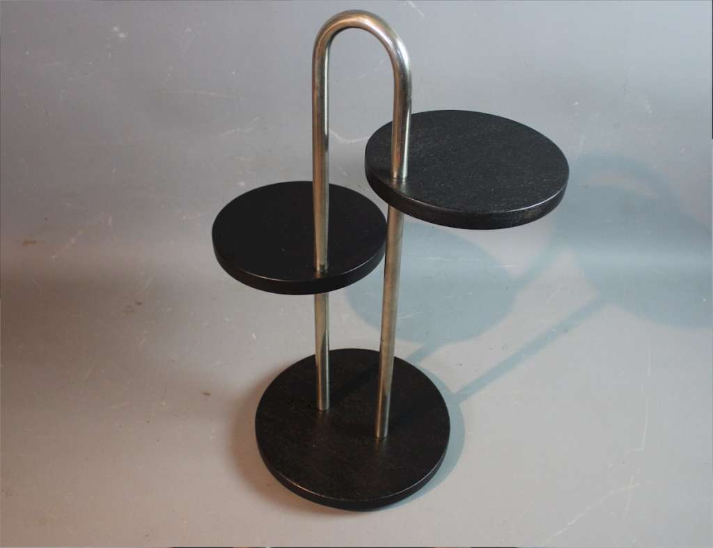Modernist tubular steel cocktail table.
