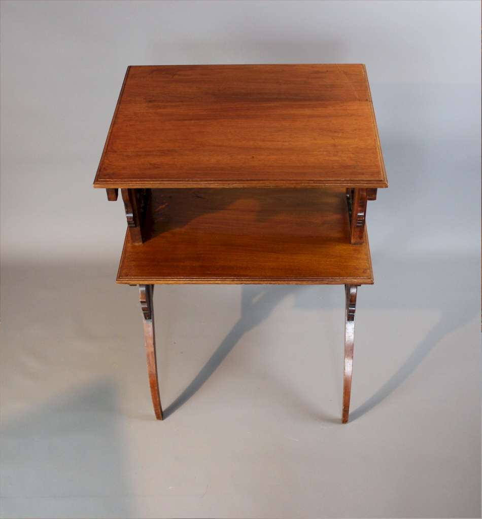Moorish mahogany bobbin table Liberty
