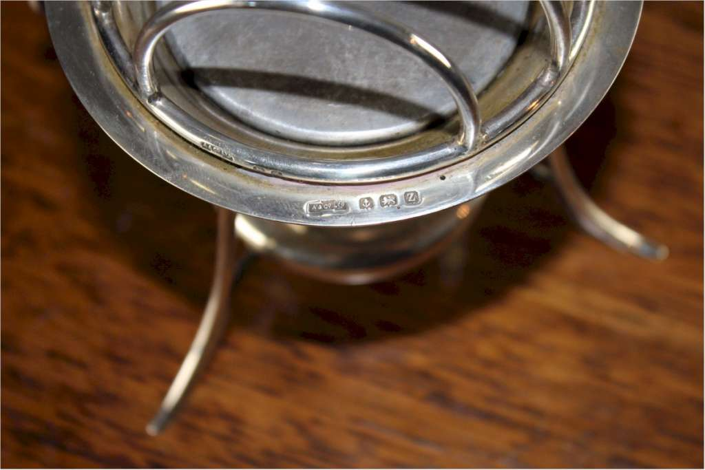 Asprey & Co silver muffin warmer