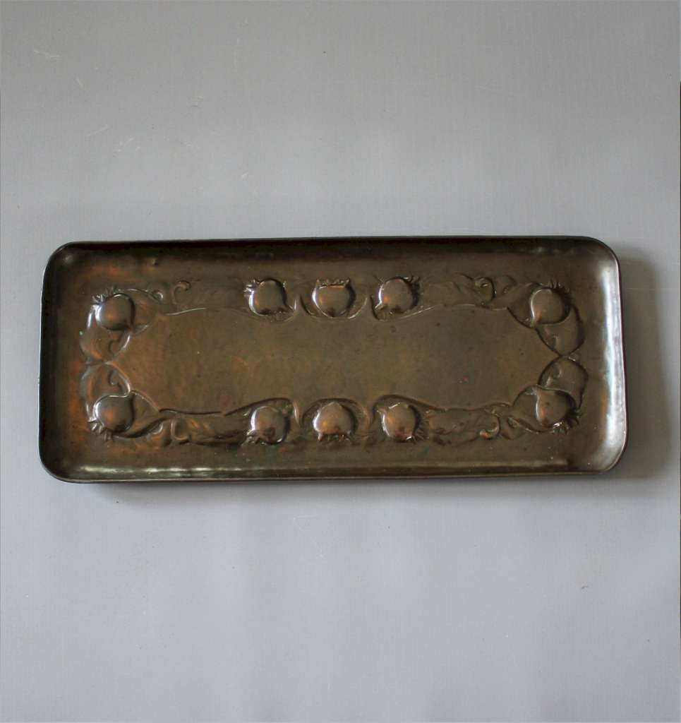 arts and crafts copper tray by Newlyn.