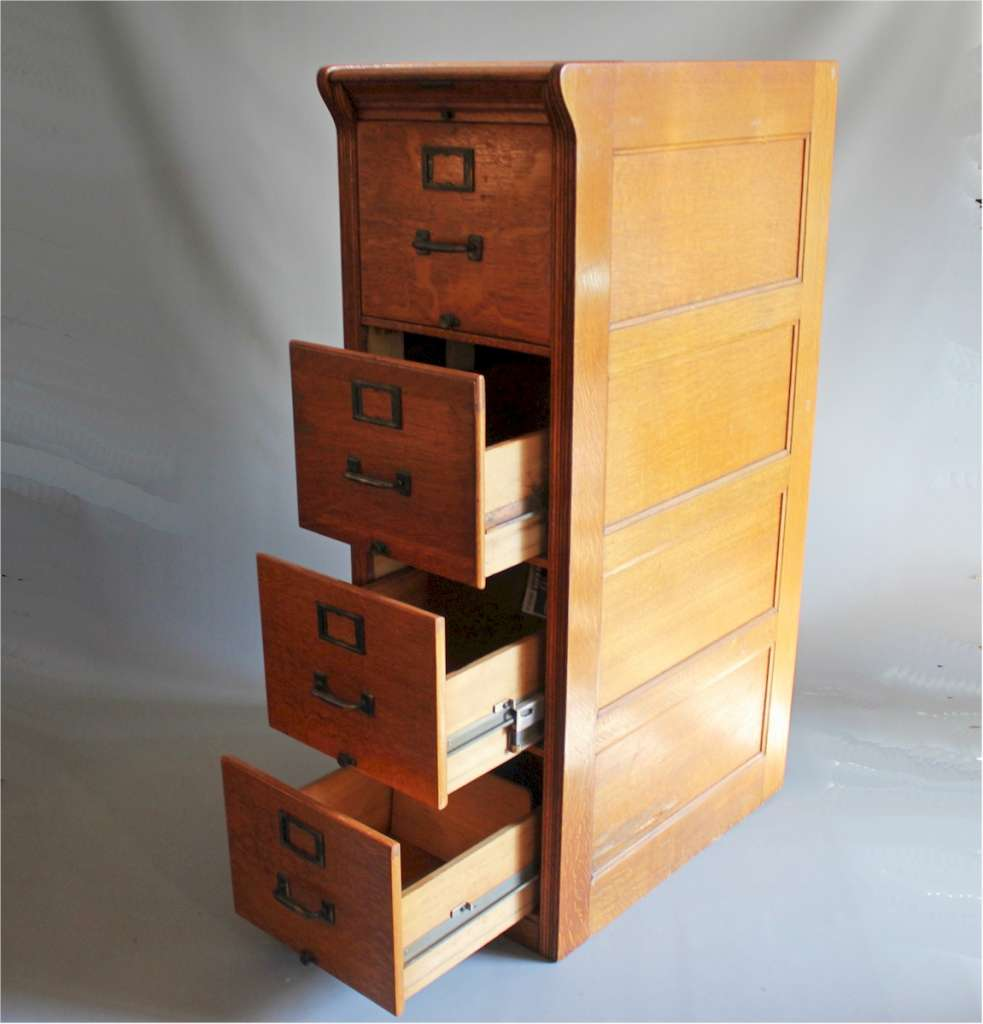 1920's Oak filing cabinet by Yawman USA