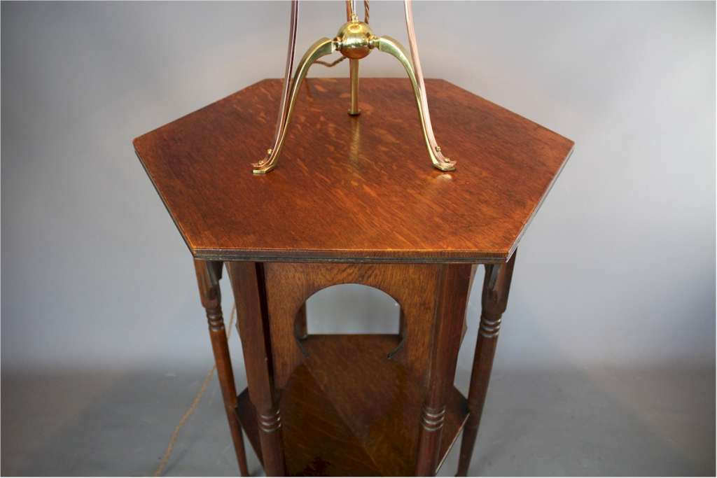 Oak liberty Moorish occasional table