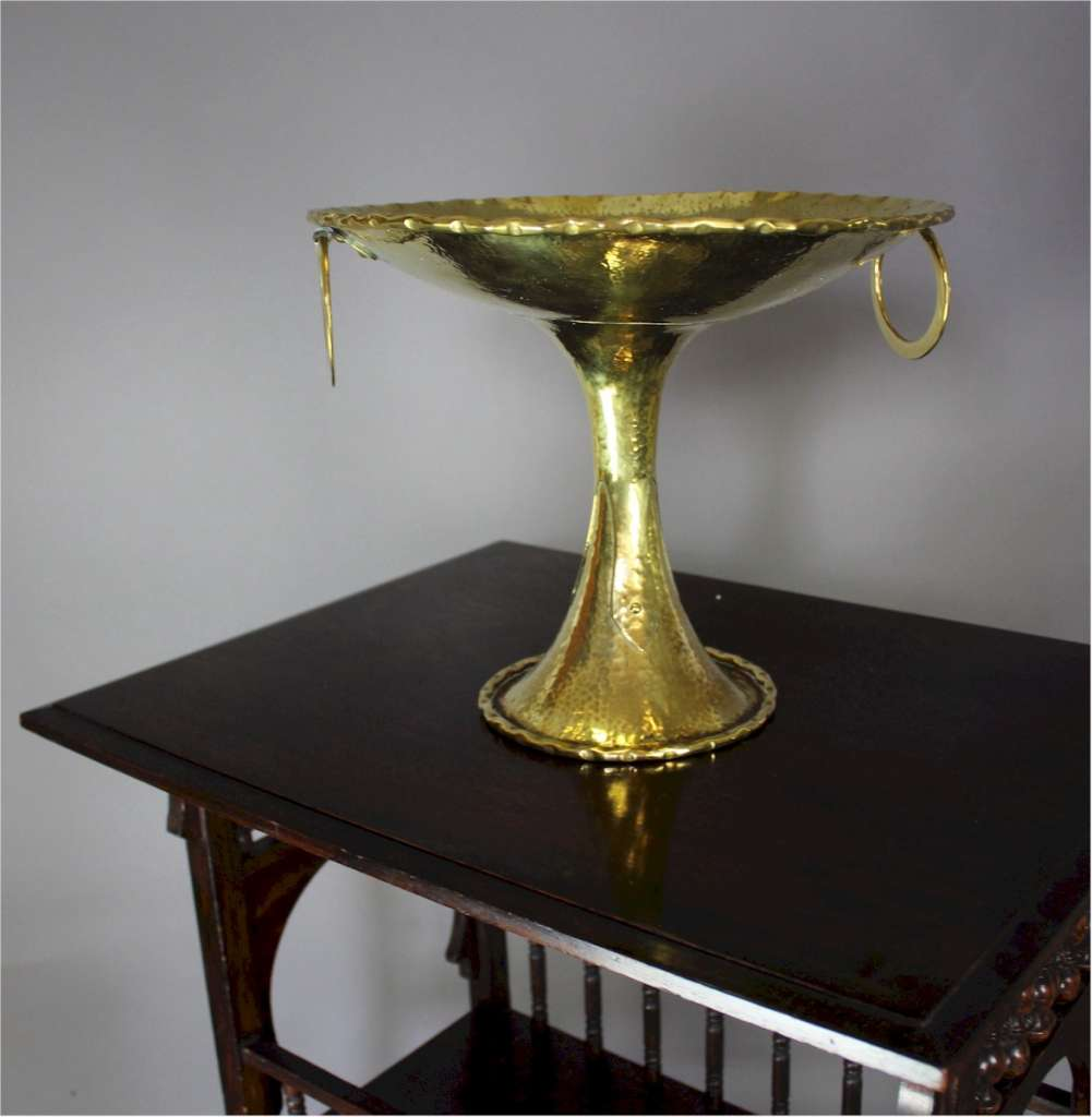 Arts and Crafts raised brass bowl by Olbury c1900