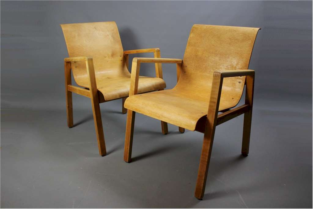Pair of Aalto 403 hall chairs for Finmar