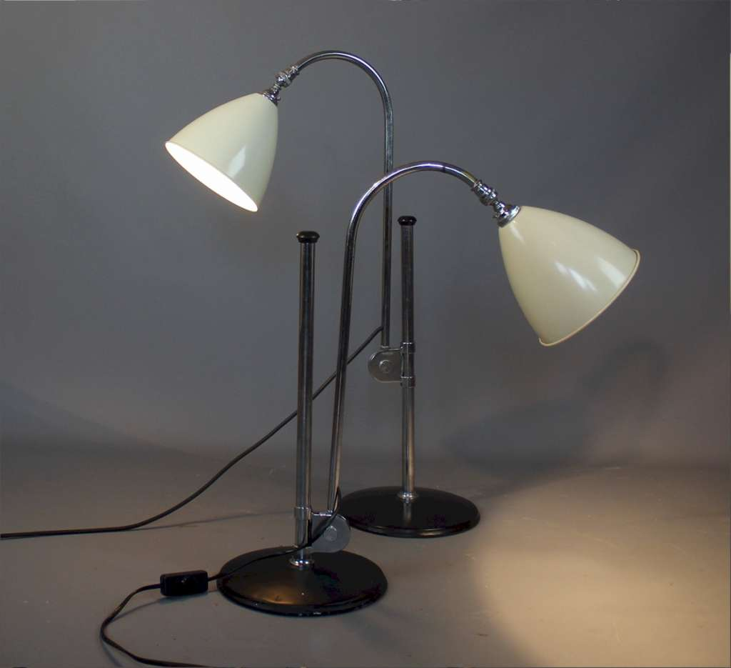 1940's adjustable lamps by Bestlite