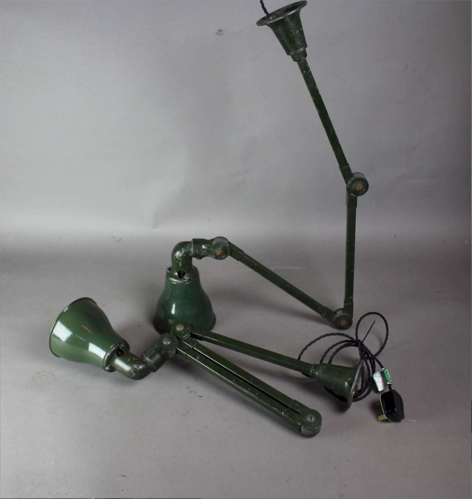 Ivisaflex green industrial wall light c1940's