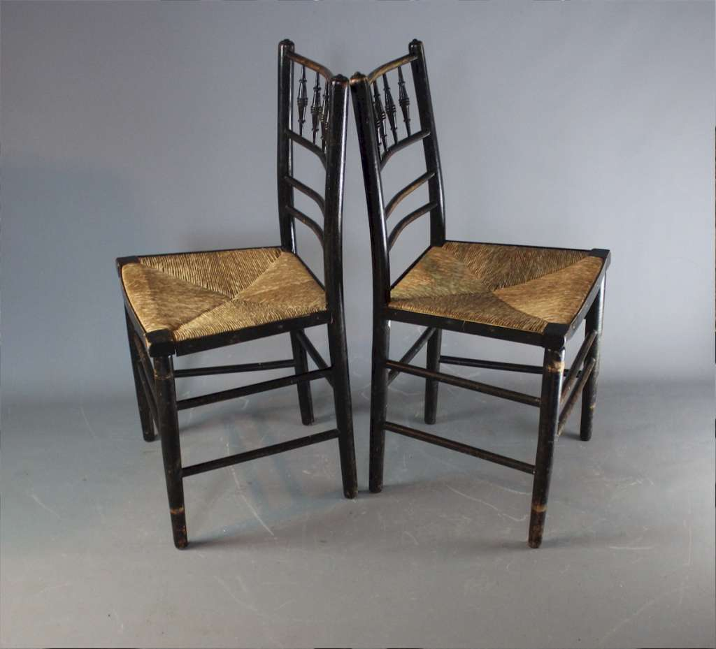 Morris & Co pair of Sussex chairs