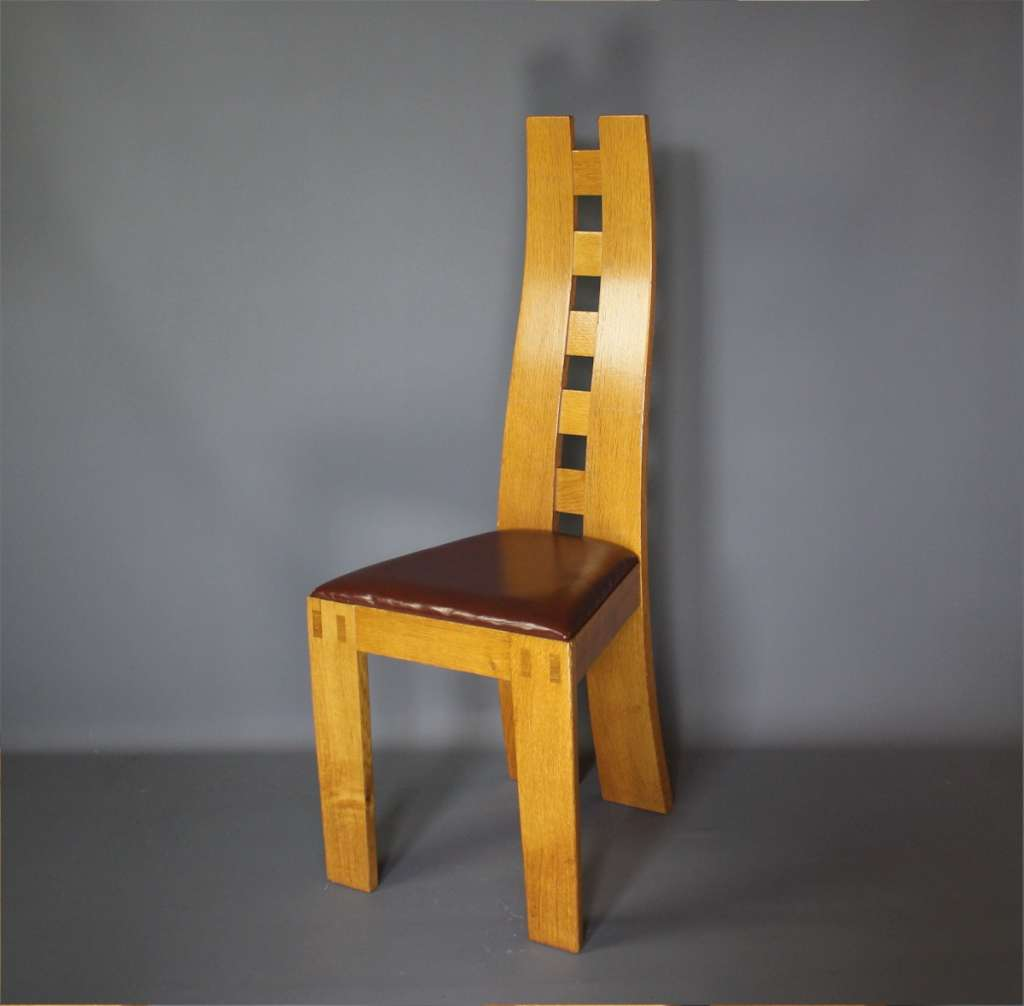 Pearl Dot oak chair designed by Robert Williams.