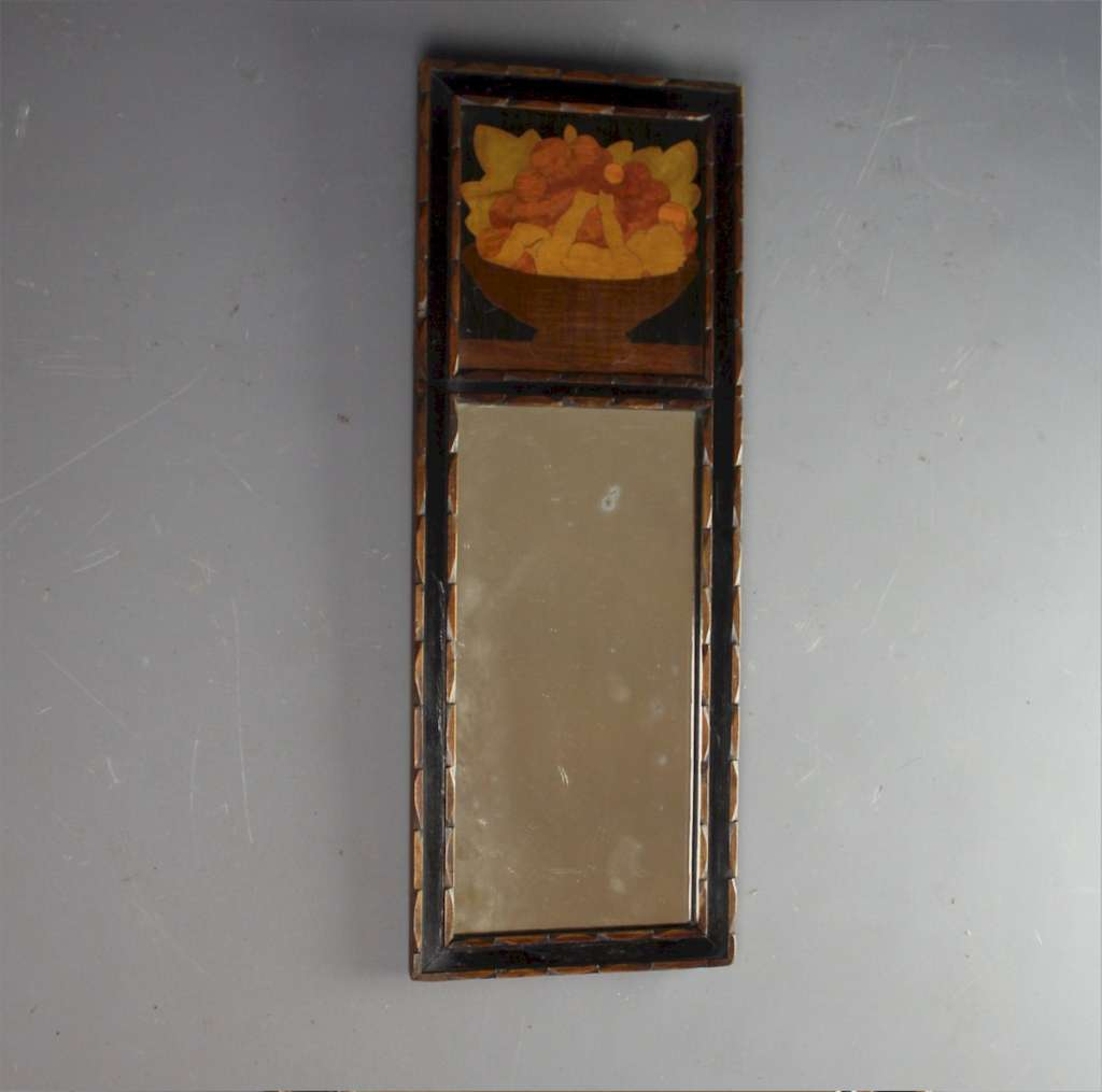 Rowley Gallery mirror with Cherub in a bowl