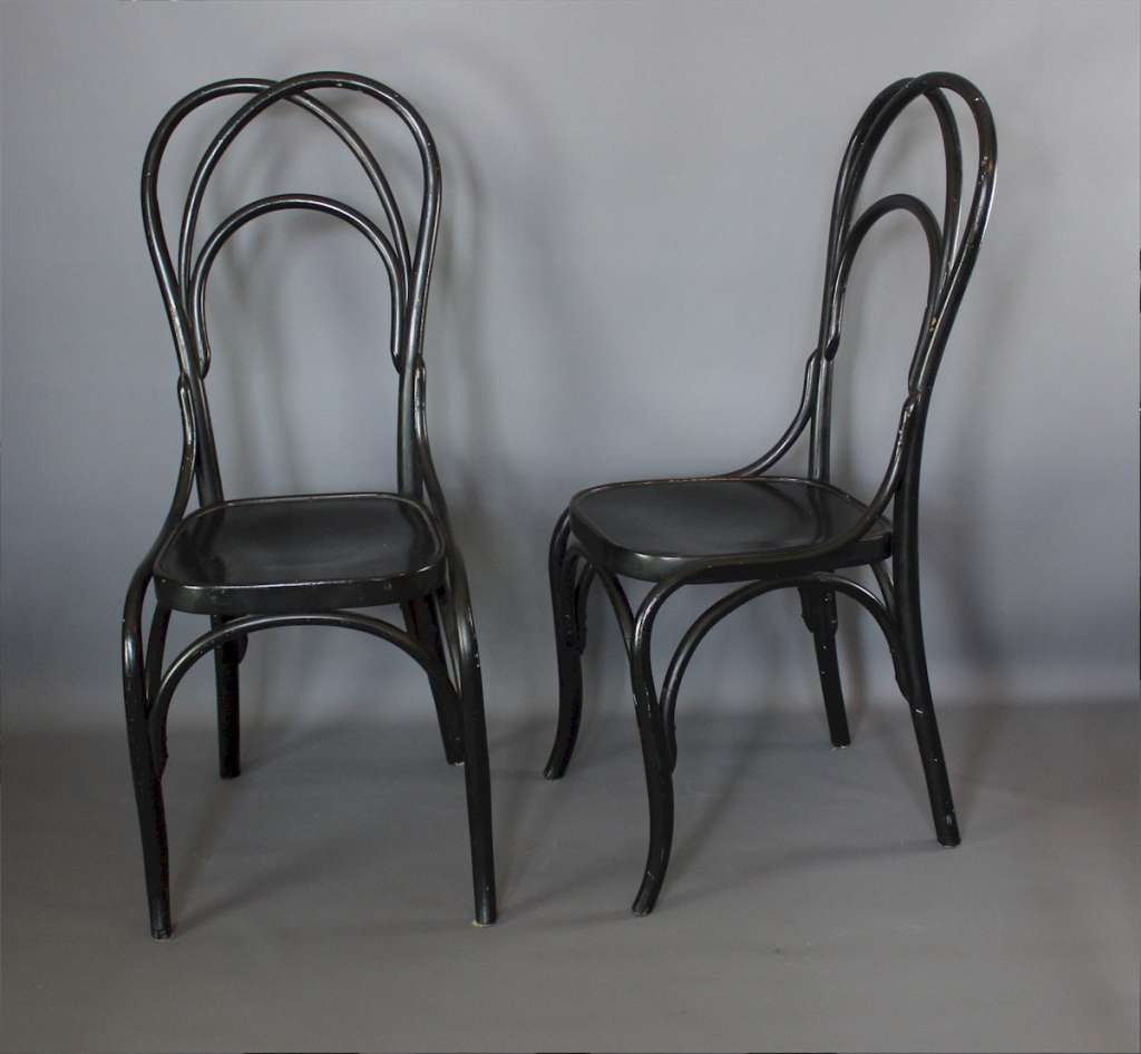 A pair of bentwood high-back chairs M Baum's Sohne,