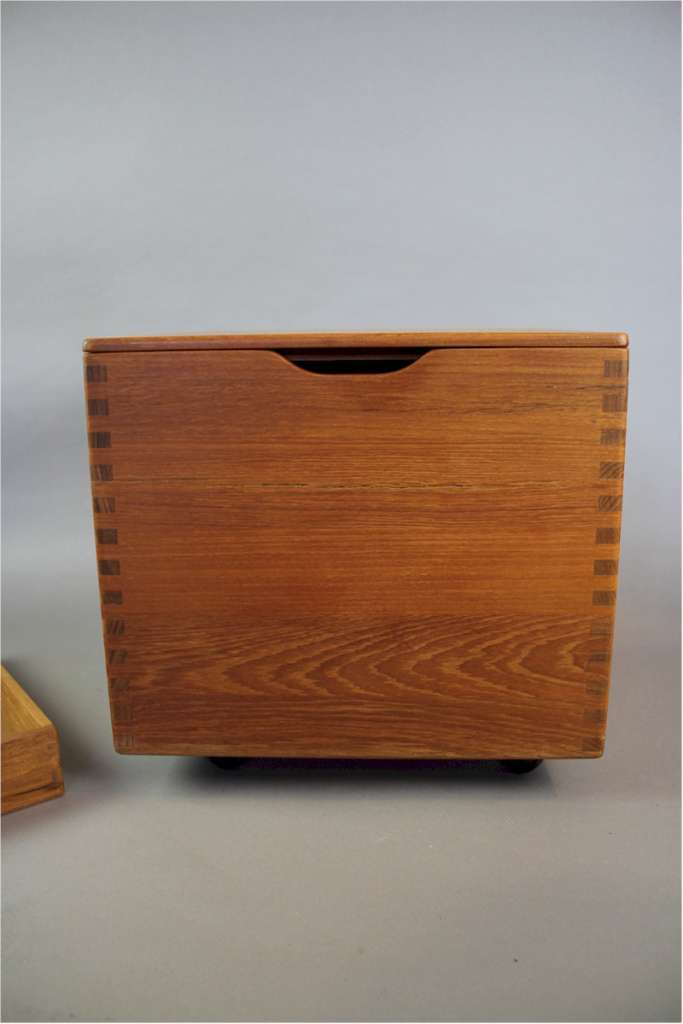 Danish teak mid century storage box by Salin Mobler
