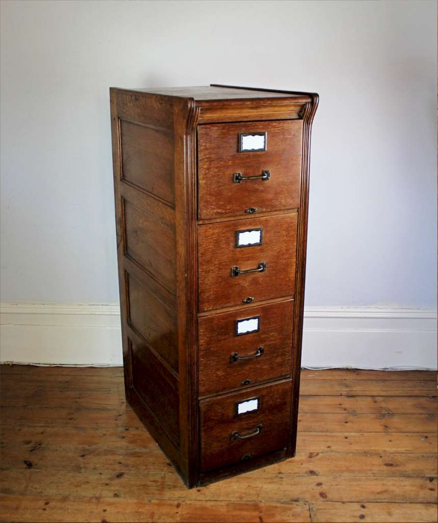 Edwardian filing cabinet in oak by Shannon c1910