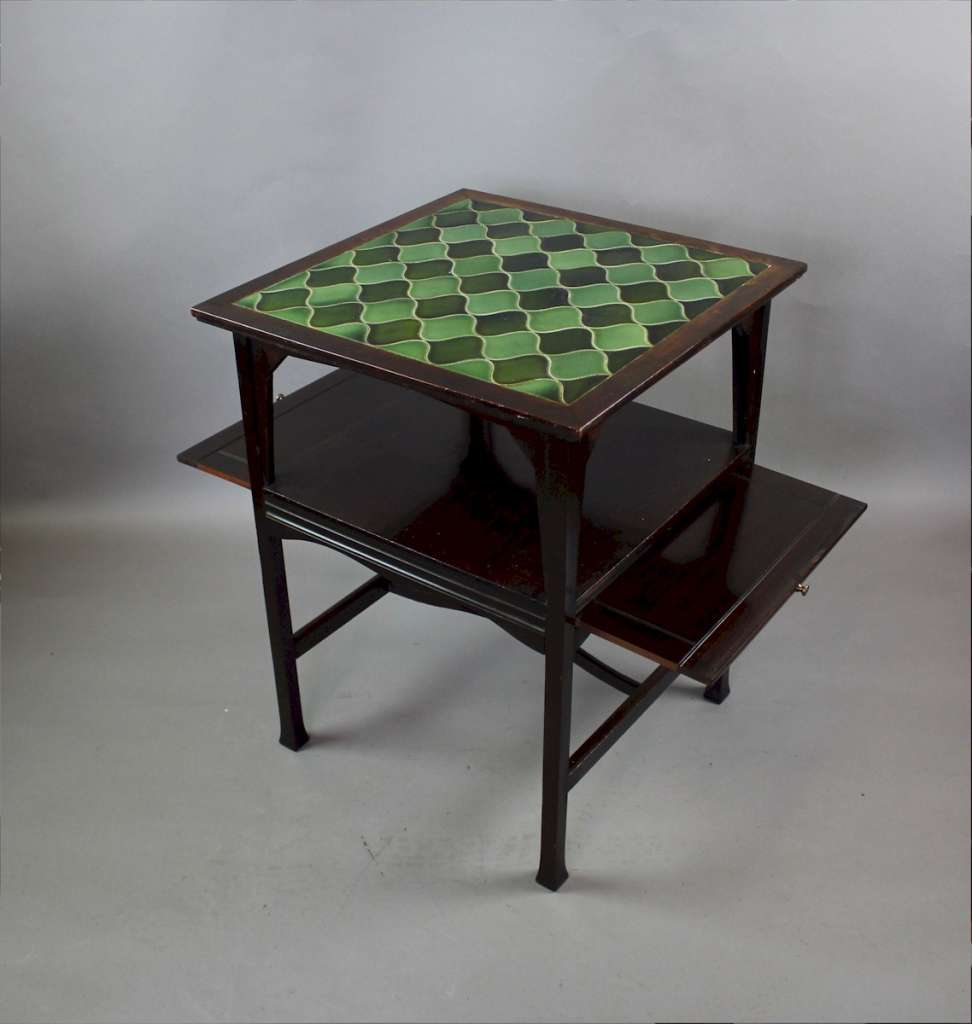 Shapland and Petter tiled top occasional table