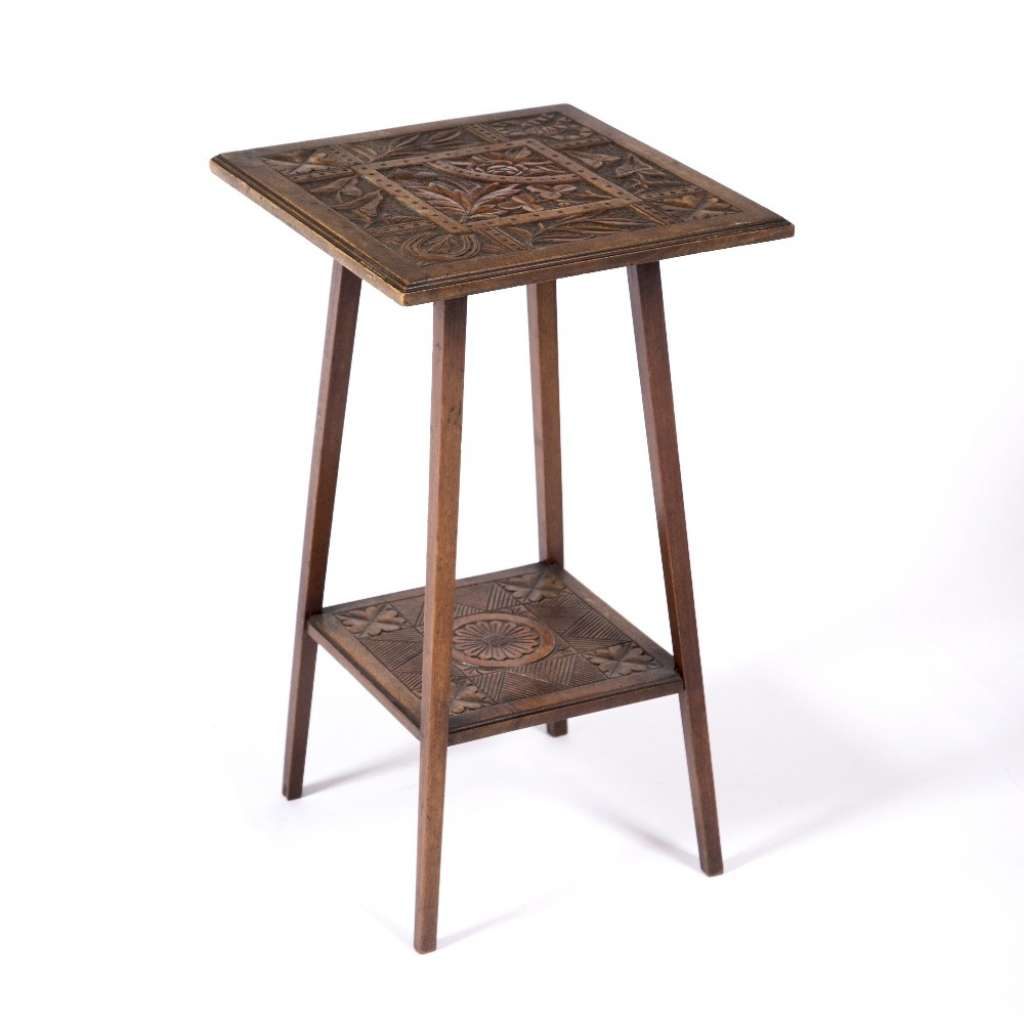 Carved Aesthetic Movement table by Shoolbred