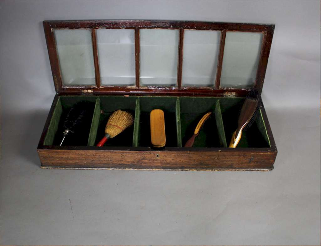 Victorian counter top shop display with compartments