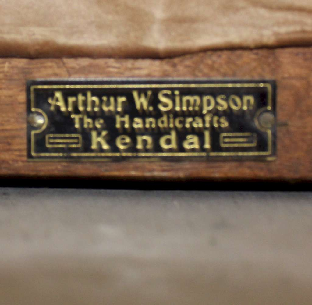 Arts and Crafts bedroom furniture by Arthur Simpson and the Handicrafts of Kendal
