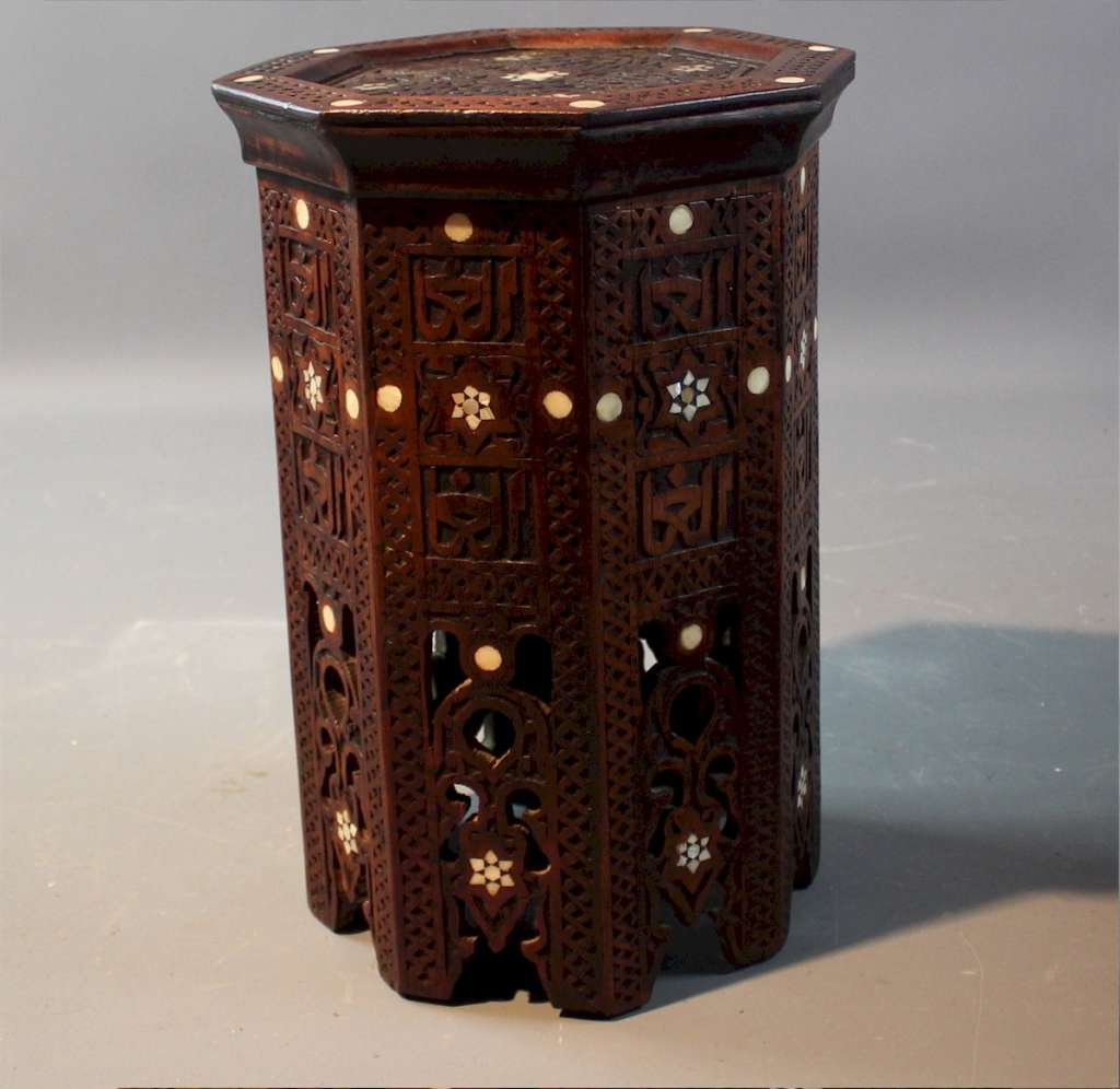 Antique Moorish inlaid table