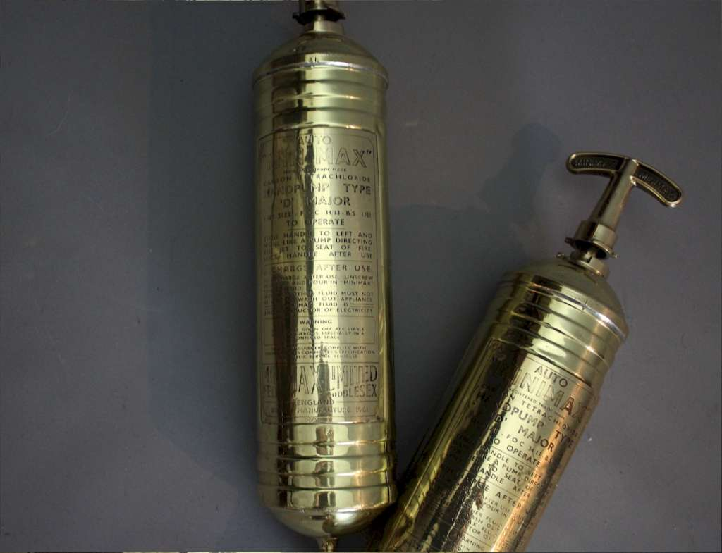 Highly Polished Auto Minimax brass fire extinguisher