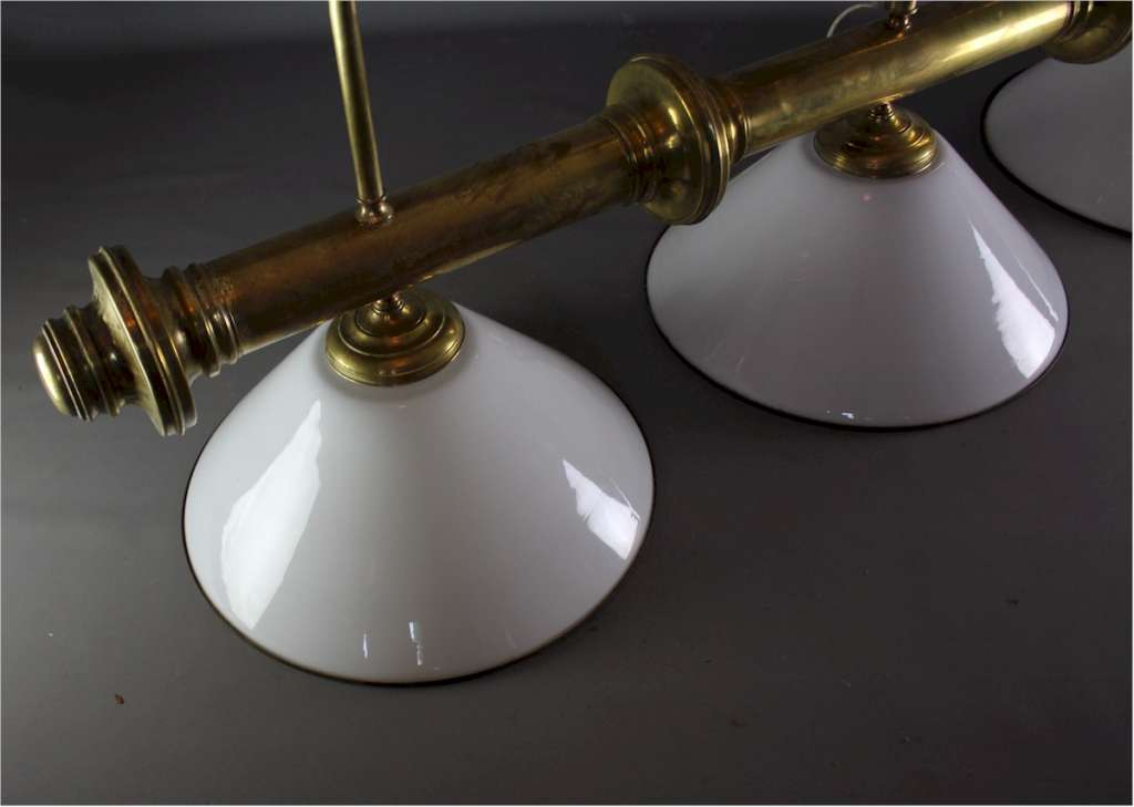 Victorian style brass snooker table lamp