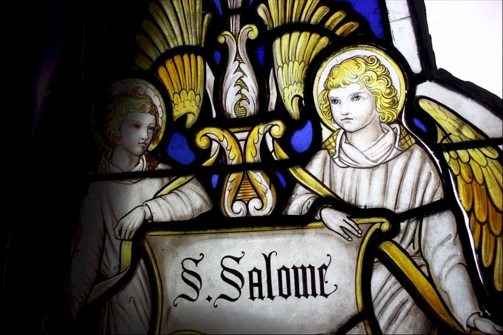 Victorian Church leaded glass St Salome