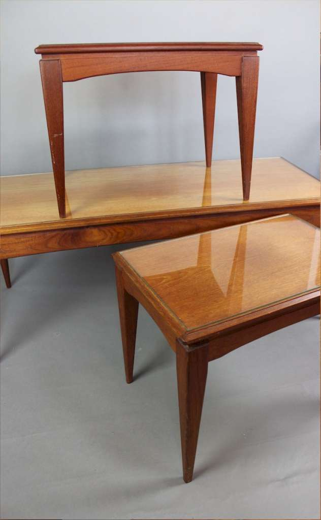 Mid-Century teak nesting coffee tables