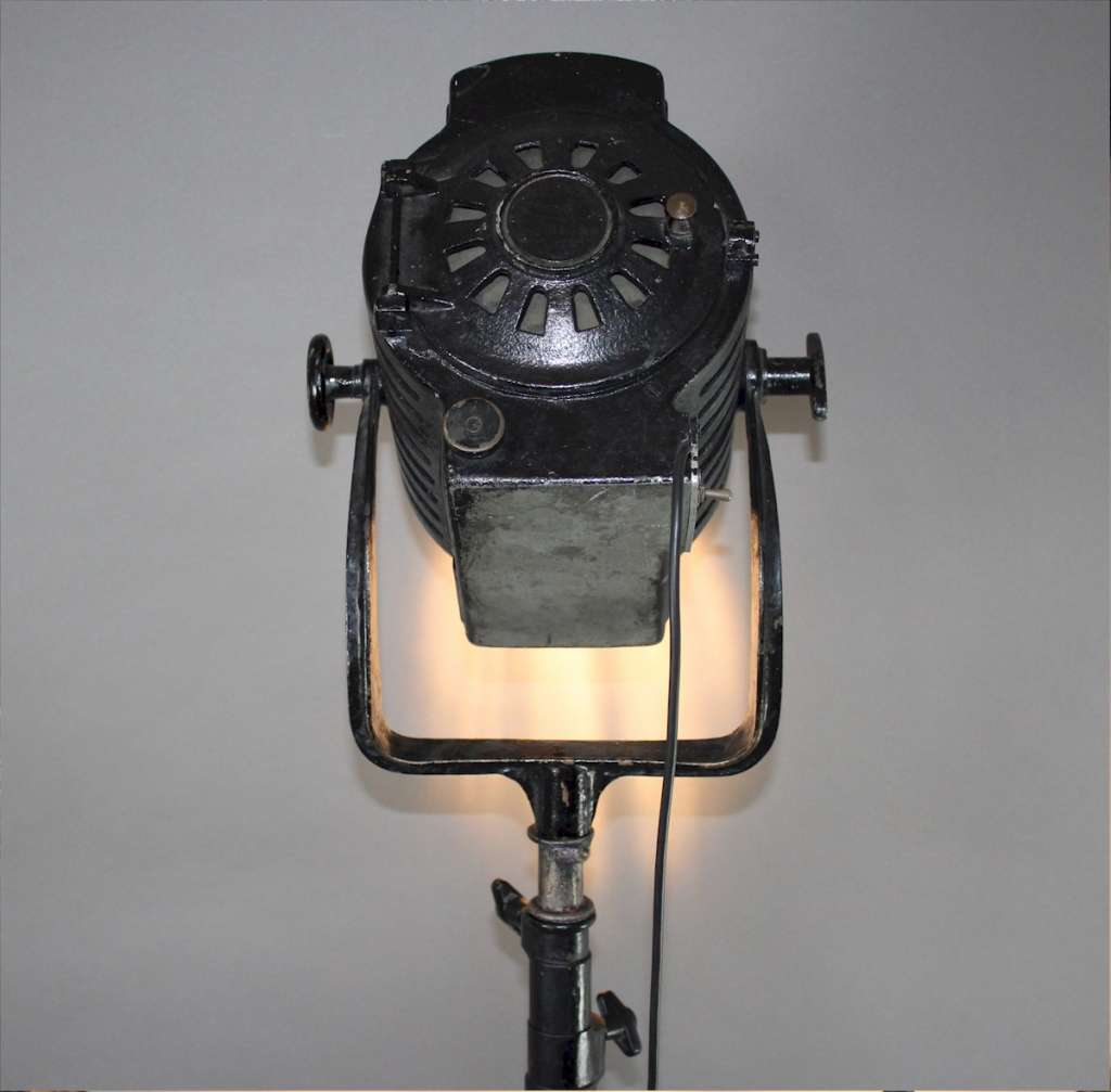 Vintage Industrial theatre lamp by Hewitt Universal