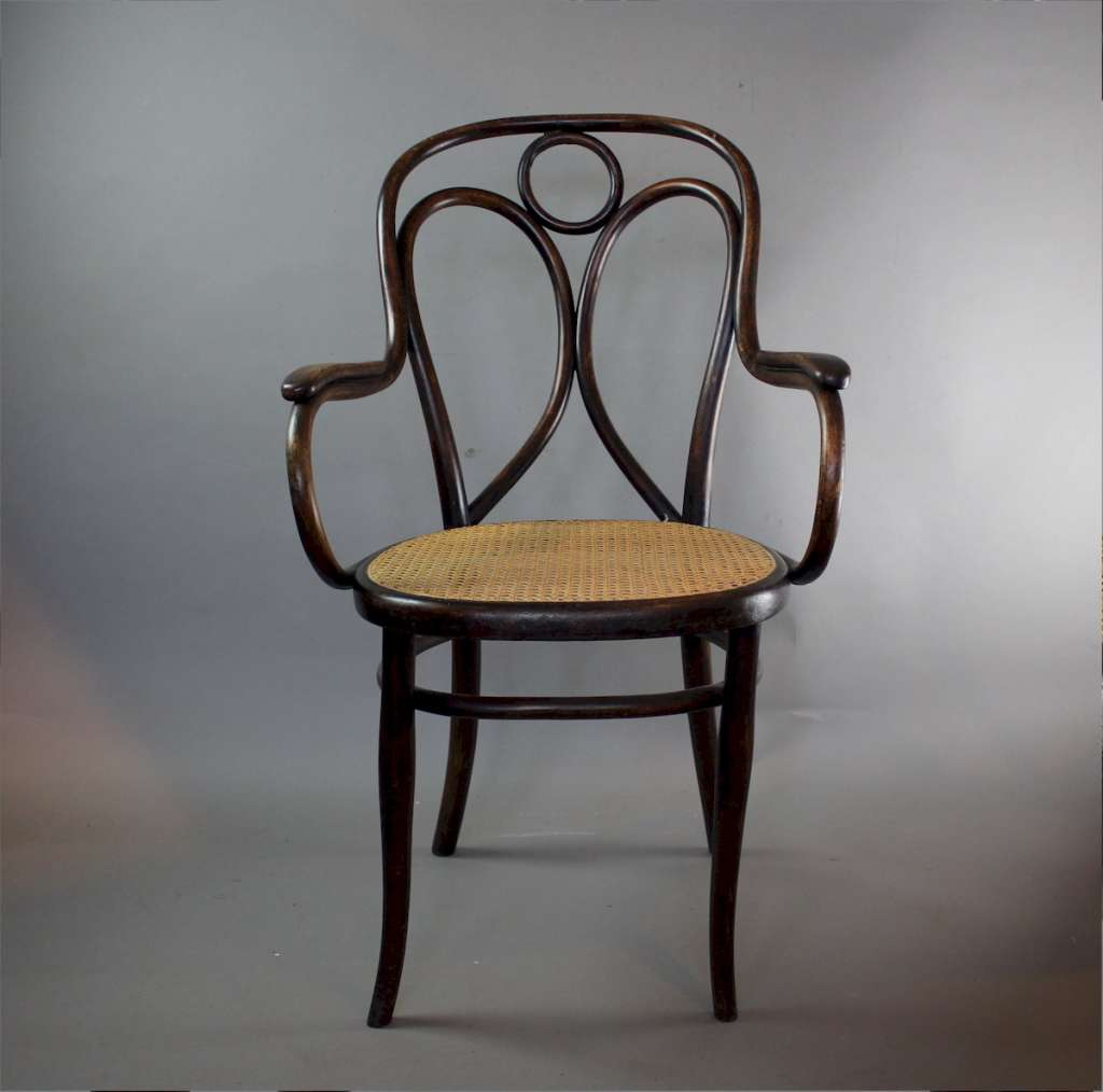 Thonet bentwood Angel back elbow chair c1900