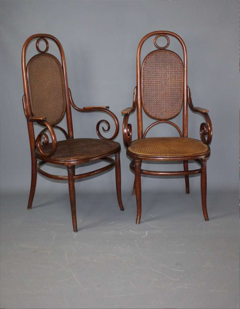 Pair of Thonet carver chairs