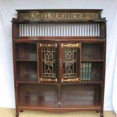 Serenity motto bookcase Shapland and Petter