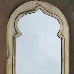 Brass mirror in the Moorish style