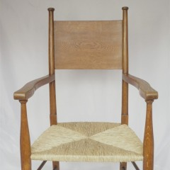 Pair of arts and crafts armchairs after W Birch