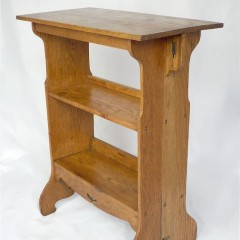 Arts and crafts table / bookcase in oak