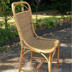 DRYAD wicker chair attributed to Harry Peach
