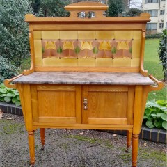 arts and crafts washstand in golden ash