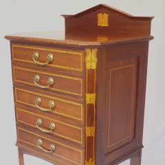 Pretty inlaid 5 drawer filing / music cabinet