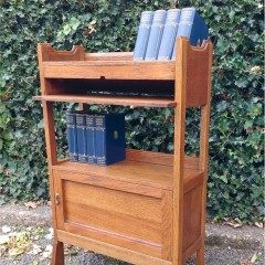 Arts and crafts bookcase cabinet by Harris Lebus