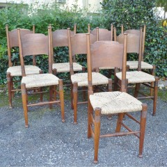 Set of 8 William Birch chairs in oak