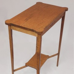 Inlaid arts and crafts occasional table in oak