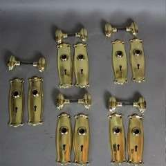 Edwardian brass door fittings