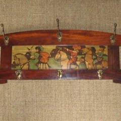 Shapland and Petter of Barnstaple mahogany hat rack