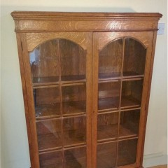 Quarter sawn arts and crafts bookcase in golden oak