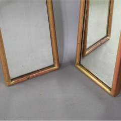 Pair of Victorian gilt framed shop mirrors c1900