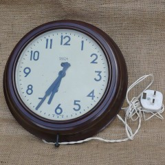 Bakelite wall clock by Smiths
