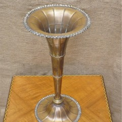 Fluted and ribbed 1920's vase plated on brass