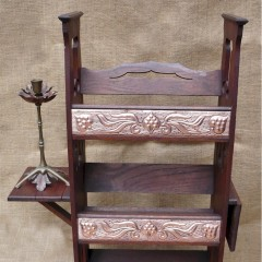 Arts and crafts bookcase with copper panels